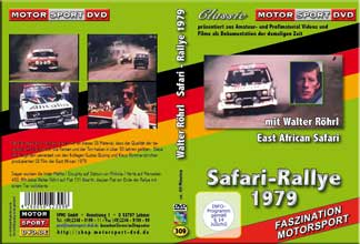 D309 * East African Safari Rallye 1979 mit Walter Röhrl * Rallye DVD *Motorsport