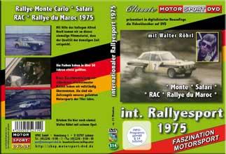 Rallye Monte Carlo * Safari 1975 * Walter Röhrl auf Opel Ascona* D314