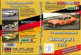1975 Deutscher Rennsport von S8 Film *BMW *CAPRI*  D417