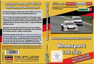 1981 - 82 Deutsche Rennsport Meisterschaft *Capri *D426