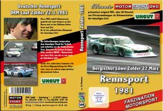 1981 Deutsche Rennsportmeisterschaft  Zolder * D509