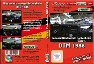 1988 DTM Inboardkamera FORD Sierra Hockenheim * DVD 524