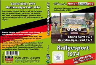 Nationaler Rallyesport 1974 * DVD aus Filmmaterial*D749