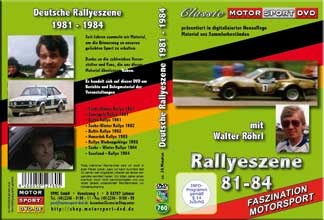 Deutsche Rallye Szene 1981-1984 mit Walter Röhrl *D760