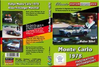 D761* Rallye Monte Carlo 1978 *Motorsport * Rallyesport