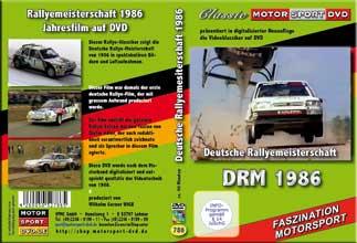 DRM 86 * Deutsche Rallye Meisterschaft * D786