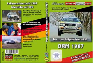 DRM 87 *Deutsche Rallye Meisterschaft *Klassiker * D787