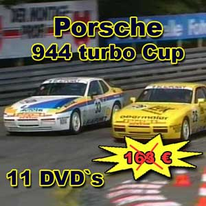 Porsche 944 Cup Paket mit 11 DVD`s