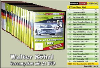 D1020* Walter Röhrl Gesamtpaket 21 DVD*Motorsport-DVD*rallying*Rallye