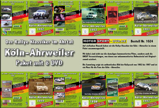 D1024* Rallye Köln - Ahrweiler Paket mit 6 DVD*Motorsport-DVD*rallying