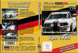 D126* 24 Stunden Spa Francorchamps 1985 * BMW Schnitzer