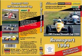 D130* Formel Renault 1994* Rennsport * Motorsport-DVD * Renault-Cup