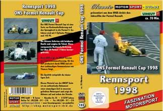 D133* Formel Renault 1998* Rennsport * Motorsport-DVD * Renault-Cup