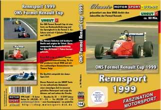 D134* Formel Renault 1999* Rennsport * Motorsport-DVD * Renault-Cup