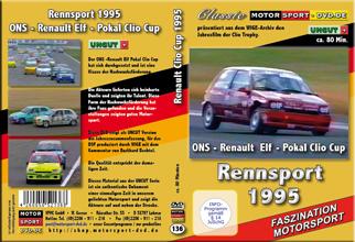 D136*  Renault Clio Cup 1995 * Rennsport * Motorsport-DVD * Renault-Cup