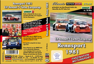 D137* Turbo Fever 1981* R5 Turbo* Rennsport * Motorsport-DVD *