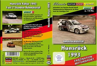 DVD326* Hunsrück-Rallye 1993 * UNCUT Amateurmaterial mit Originalton