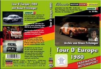 DVD328* Tour D`Europe 1980 mit Klaus Fritzinger