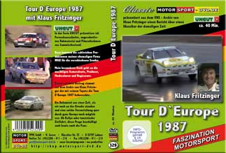 DVD329* Tour D`Europe 1987 mit Klaus Fritzinger