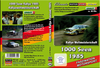 D330* 1000 Seen Rallye WM 1985 * rally of 1000 lakes