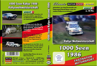 D331* 1000 Seen Rallye WM 1986 * rally of 1000 lakes