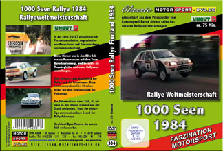 D334* 1000 Seen Rallye WM 1984 * rally of 1000 lakes