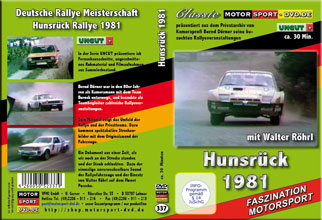 D337* Hunsrück - Rallye 1981 * Motorsport-DVD * UNCUT Walter Röhrl * Rallye-DVD