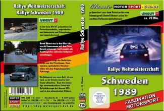 D339* Rallye Schweden 1989 * Motorsport-DVD * UNCUT Rallye * swedish Rallye