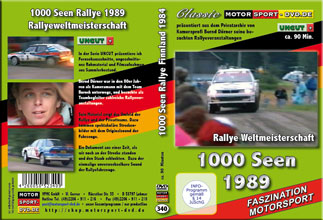 D340* 1000 Seen Rallye WM 1989 *rally of 1000 lakes*Motorsport-DVD*rallying