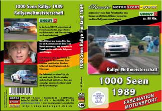 D340* 1000 Seen Rallye WM 1989 *rally of 1000 lakes*Motorsport-DVD*rallying