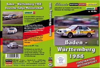 D341* Rallye Baden Württemberg 1988 *Audi Quattro*Motorsport-DVD*rallying
