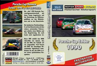 D528* Porsche Carrera Cup 1990 Zolder im WIDESCREEN 16:9 Format