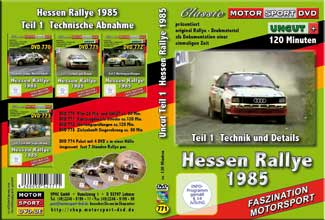 Rallye Hessen 1985 *D771  Drehmaterial + UNCUT Technik