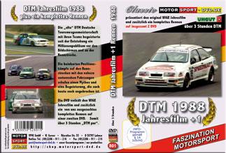 D801* DTM Jahresfilm 1988  + 1 Rennen (2 DVD) DTM DVD * Motorsport DVD