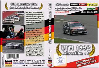D805* DTM Jahresfilm 1992  + 1 Rennen (2 DVD) DTM DVD * Motorsport DVD