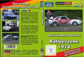 D342* Klaus Fritzinger im Rallyesport  WIDESCREEN 16:9 Format