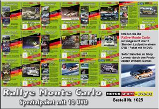 D1025* Monte Carlo Paket mit 10 DVD*Motorsport-DVD*rallying