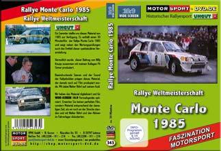 D343* Rallye Monte Carlo 1985 * Walter Röhrl  WIDESCREEN 16:9 Format