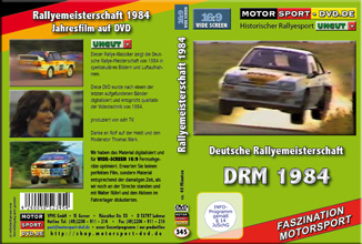 D345* DRM Deutsche Rallyemeisterschaft 1984 in Widescrreen 16:9