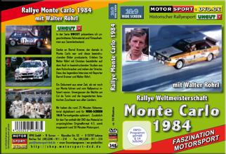 D348* Monte Carlo 1984 mit Walter Röhrl in 16:9 Motorsport Rallye DVD
