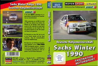 D353* Sachs Winter Rallye 1990 in 16:9 Motorsport Rallye DVD