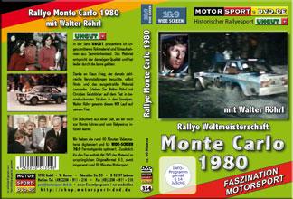 D354* Monte Carlo 1980 mit Walter Röhrl in 16:9 Motorsport Rallye DVD