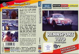 D839* Rennsport 1970 Renault Alpine in 16:9 Motorsport Rallye DVD