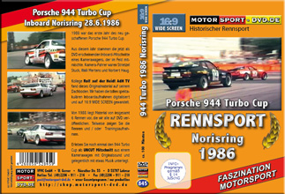D845* 944 turbo Cup 1986 Norisring in 16:9 Motorsport DVD