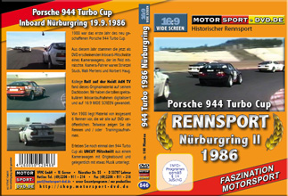 D846* 944 turbo Cup 1986 Nürburgring II in 16:9 Motorsport DVD