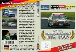 D822* DTM 1992 in 16:9 * Jahresfilm * BMW 323i *Rennsport*Motorsport-DVD *