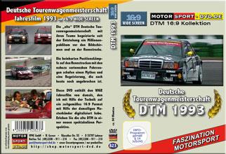 D823* DTM 1993 in 16:9 * Jahresfilm * ALFA ROMEO*Rennsport*Motorsport-DVD *