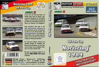 D652* VW Polo Cup 1984  * Norisring in 16:9 * Rennsport * Motorsport-DVD *