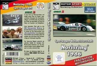 D653* Sportwagen WM 1986  * Norisring in 16:9 * Rennsport * Motorsport-DVD *