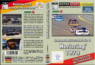 D655* Rennsportmeisterschaft Div. II Norisring 1978  in 16:9 * Motorsport-DVD